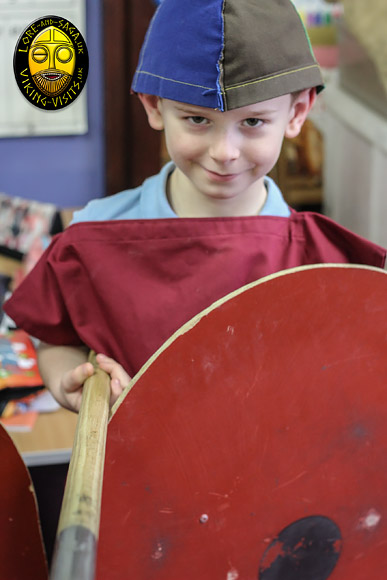 Do you think this lad is going to forget his Viking day?  www.Viking-Visits.uk